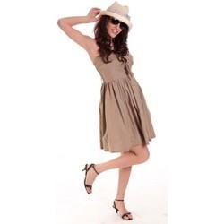 Clothing Women Short Dresses Aggabarti ROBE NOEUD 111029 BEIGE Beige