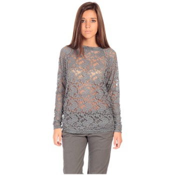 Clothing Women Long sleeved tee-shirts Charlie Joe Top ZUCCA Gris Grey