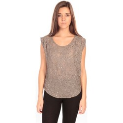 Clothing Women Tops / Sleeveless T-shirts Charlie Joe Top Pearl Marron Brown