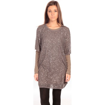 Clothing Women Short Dresses Charlie Joe Robe Letizia Grey