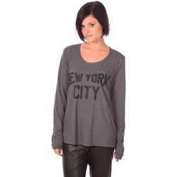 Clothing Women Long sleeved tee-shirts Charlie Joe Top New York Grey