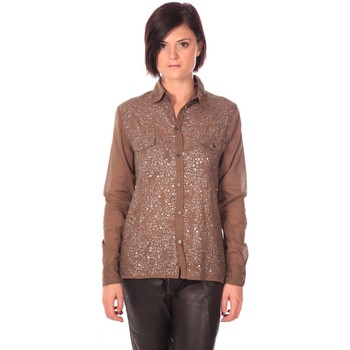 Clothing Women Shirts Charlie Joe Chemise Sonja Kaki Brown