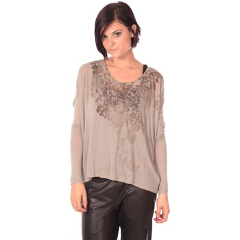 Clothing Women Tunics Rich & Royal Rich&Royal Tunique Magela Taupe Brown