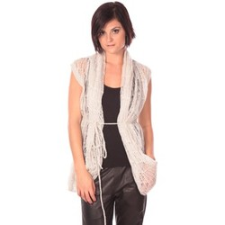 Clothing Women Jackets / Cardigans Rich & Royal Rich&Royal Gilet Chine White