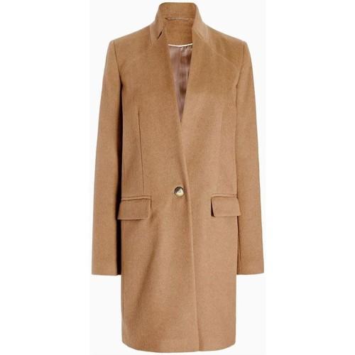 Clothing Women coats Anastasia - Womens Camel Single Button Smart Coat BEIGE