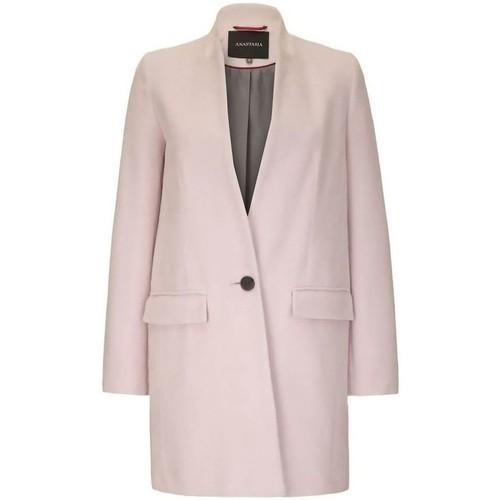 Clothing Women Coats Anastasia - Womens Pink Single Button Smart Coat pink
