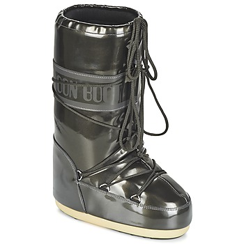 Shoes Women Snow boots Moon Boot MOON BOOT VYNIL MET Black