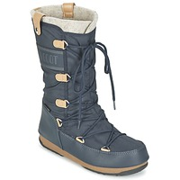 Shoes Women Snow boots Moon Boot MOON BOOT MONACO FELT Blue