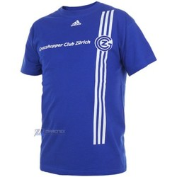 Clothing Men short-sleeved t-shirts adidas Originals Gcz Logo Tee Tshirt Blue