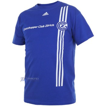 adidas  Gcz Logo Tee Tshirt  mens T shirt in blue
