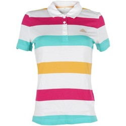 Clothing Women short-sleeved polo shirts adidas Originals Stripe Polo White