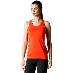 Clothing Women Tops / Sleeveless T-shirts adidas Originals Climachill Tank Orange