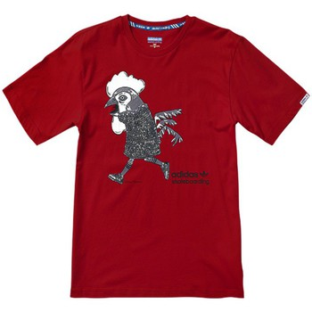 Clothing Men short-sleeved t-shirts adidas Originals Chicken Mascot Red