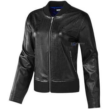 Clothing Women Jackets adidas Originals EF Faux Leather Jacket Black