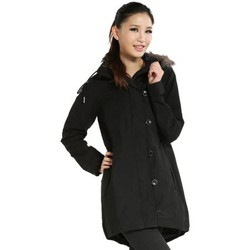 Clothing Women Jackets adidas Originals Fur Woven Parka Black