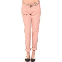 Clothing Women Trousers Tom Tailor Pantalon Ceinture saumon Orange