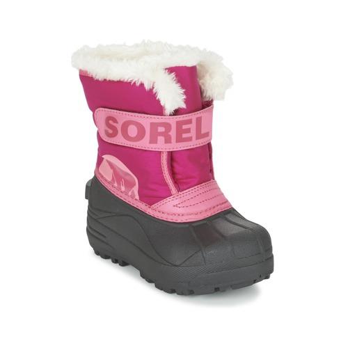 Shoes Children Snow boots Sorel CHILDRENS SNOW COMMANDER Pink