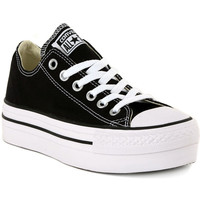 Shoes Women Low top trainers Converse ALL STAR PLATFORM OX BLACK Nero