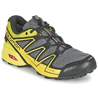 Shoes Men Running shoes Salomon SPEEDCROSS VARIO GTX® Grey / Green / Yellow