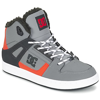 Shoes Children Hi top trainers DC Shoes REBOUND WNT B SHOE XSKN Grey / Black / Orange