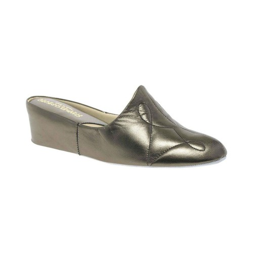 Shoes Women Clogs Relax Slippers Dulcie Leather Slipper Silver