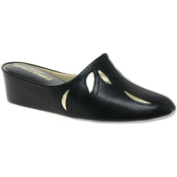Relax Slippers  Molly Leather Slipper  womens Slippers in black