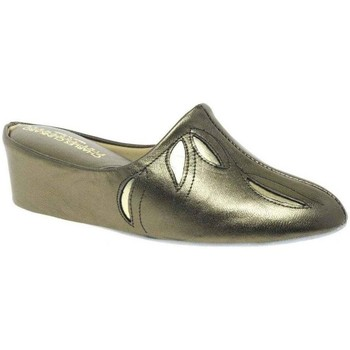 Relax Slippers  Molly Leather Slipper  womens Slippers in Silver