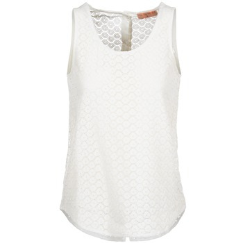 Clothing Women Tops / Sleeveless T-shirts Moony Mood GUOHIAVINE White