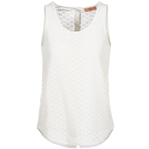 Clothing Women Tops / Sleeveless T-shirts Moony Mood IGUOHIAVINE White