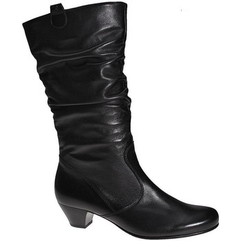 Shoes Women High boots Gabor Rachel Leather Wide Fitting Boots black