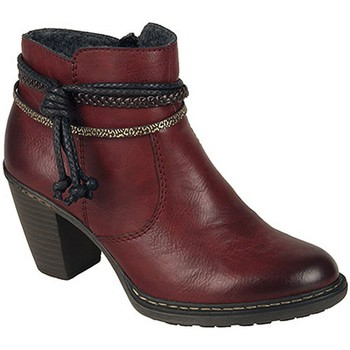 Shoes Women Ankle boots Rieker Rope Womens Casual Ankle Boots red