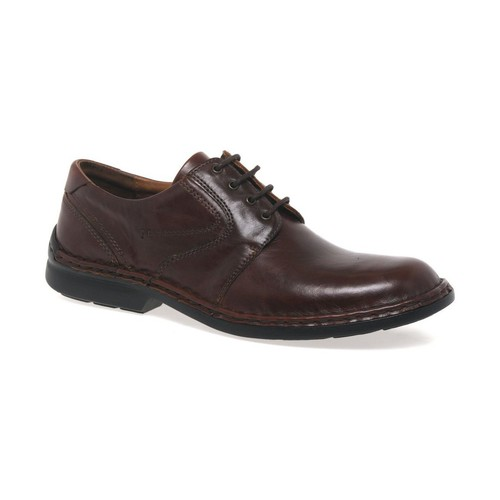 Shoes Men Derby Shoes Josef Seibel Walt Leather Mens Lace Up Smart Shoes brown