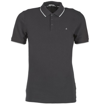 Clothing Men short-sleeved polo shirts Calvin Klein Jeans PARK TIPPING SLIM FIT Black