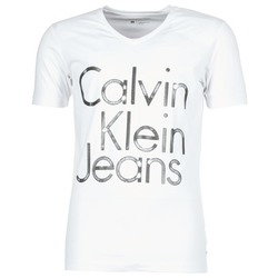 Clothing Men short-sleeved t-shirts Calvin Klein Jeans TEMPEST VN SLIM FIT White
