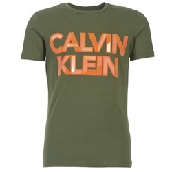 Clothing Men short-sleeved t-shirts Calvin Klein Jeans TERRAIN CN SLIM FIT Kaki