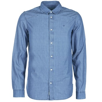 Clothing Men long-sleeved shirts Calvin Klein Jeans WINLEY Blue