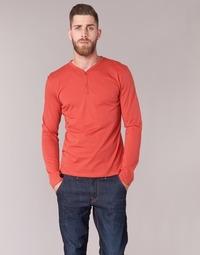 Clothing Men Long sleeved tee-shirts BOTD ETUNAMA Red