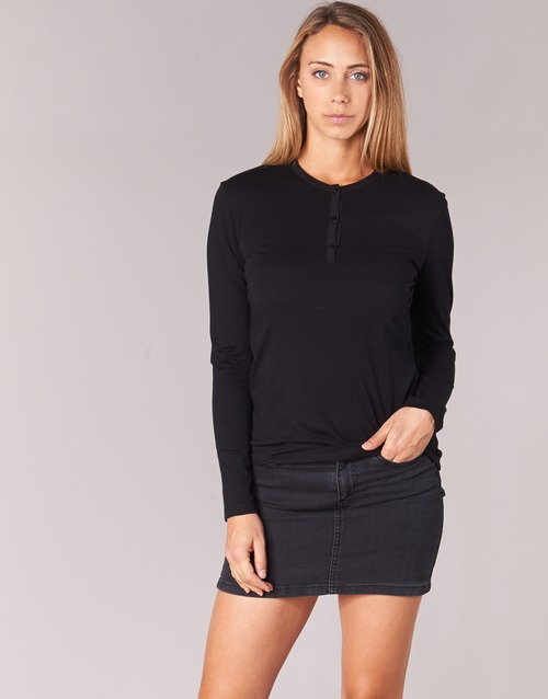Clothing Women Long sleeved tee-shirts BOTD EBISCOL Black