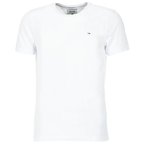 Clothing Men short-sleeved t-shirts Tommy Jeans OFLEKI White
