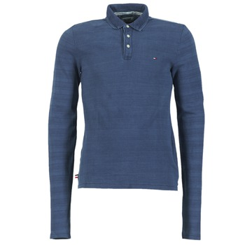 Clothing Men long-sleeved polo shirts Tommy Jeans KORIKO Blue