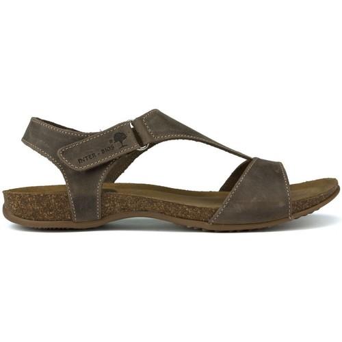 Shoes Women Sandals Interbios INTERMEDIATE ANATOMIC SANDALS 4420 BROWN