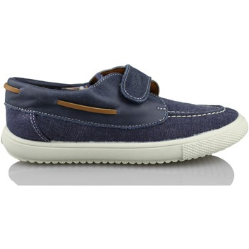 Shoes Boy Boat shoes Vulladi NAUTICAL  CANVAS VELCRO BLUE