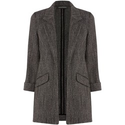 Clothing Women coats Anastasia -Black Herringbone Unlined Jacket black