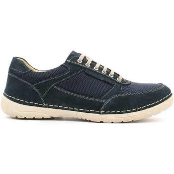 Shoes Men Low top trainers Lumberjack SM10905 001 M02 Shoes with laces Man Navy bleu