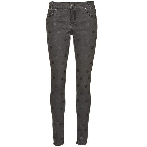 Clothing Women Slim jeans American Retro HELENA Grey