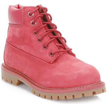 Timberland  Toddler Red 6 Inch Premium Waterproof Boots  girlss Childrens Mid Boots in red