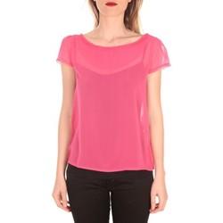 Clothing Women short-sleeved t-shirts Aggabarti t-shirt voile 121072 fushia Pink