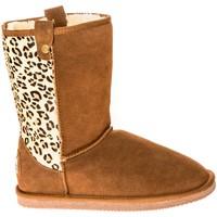 Shoes Women Snow boots Ilario Ferucci Bottes Taina Camel/Léopard Brown
