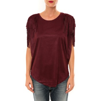 Clothing Women Tops / Blouses Nina Rocca Top C1844 bordeaux Red
