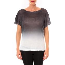 Clothing Women Jumpers De Fil En Aiguille Top Carla anthracite Grey